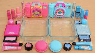 Pink vs Blue - Same Same Edition - Mixing Makeup Eyeshadow into Slime ASMR