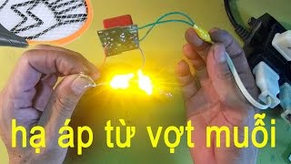 cắt mạch sạc vợt muỗi làm mạch hạ áp thắp LED, voltage reduction circuit
