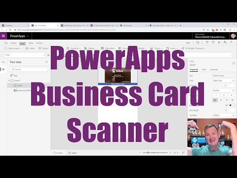 PowerApps Business Card Scanner - Edit And Save The Data To SharePoint