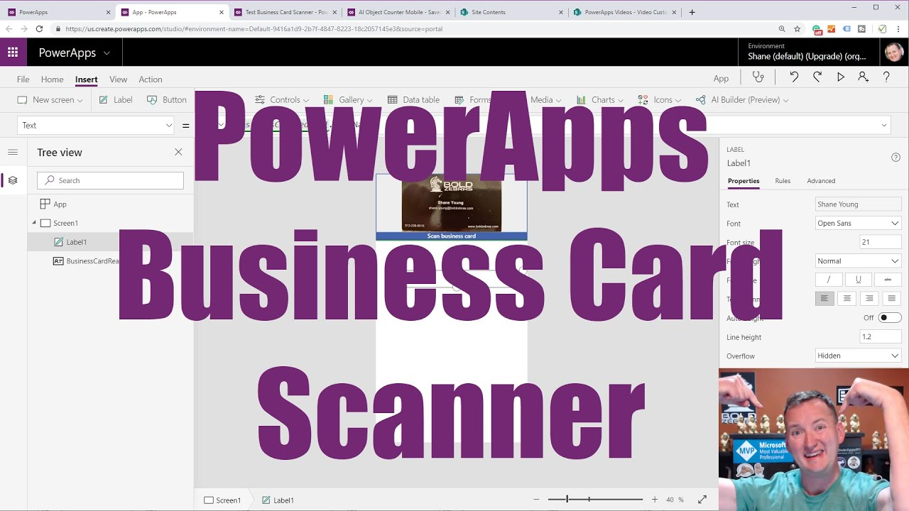 Powerapps Business Card Scanner Edit And Save The Data To Sharepoint