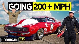 homepage tile video photo for 2000hp, a Camaro and an Empty Airfield: Standing Mile Racing Big Red Camaro