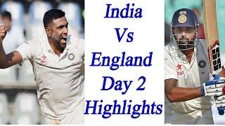 india vs england 4th test day 2 highlights murli vijay and ashwin shines   वनइ ड य ह द