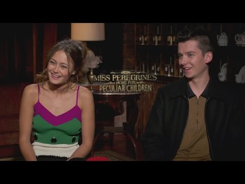 Asa Butterfield & Ella Purnell joke about underage drinking, popping pimples and doggy paddling