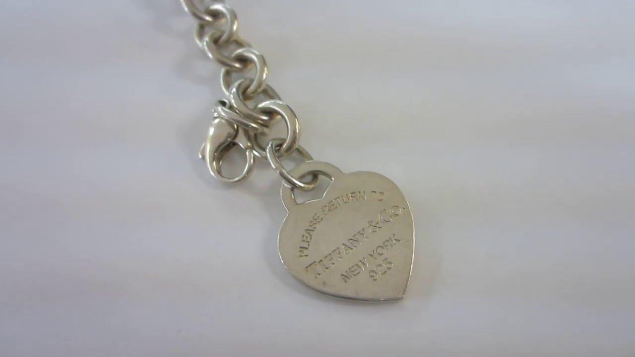 fef8249cc Tiffany & Co. Sterling Silver Heart Tag Charm Bracelet - YouTube