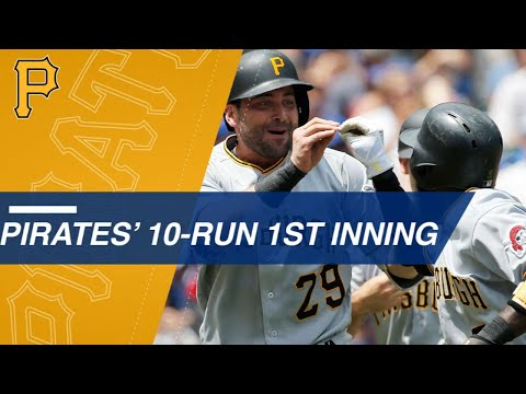 Pirates score 10 runs in the opening frame