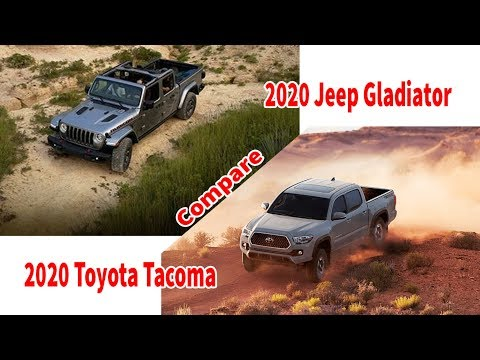 2020 jeep gladiator vs 2020 toyota tacoma | Compare | Which car will you choose for your journey?