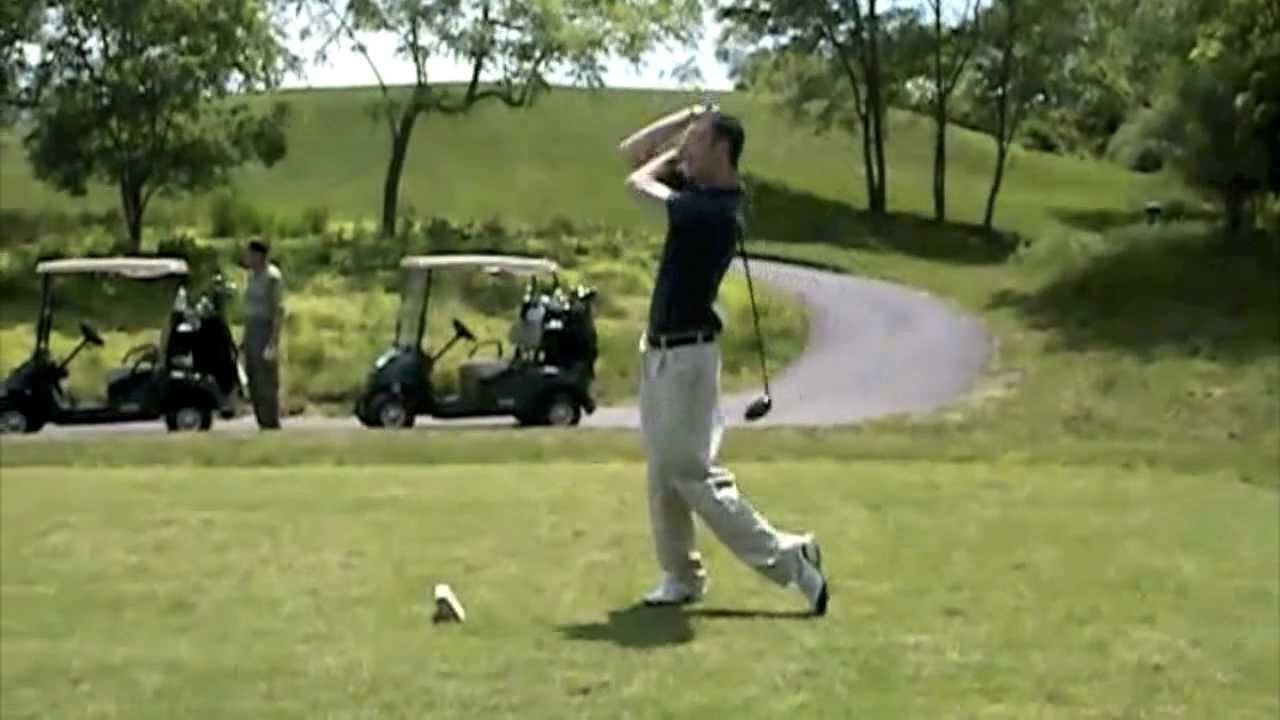 how to keep your head down when hitting a golf ball