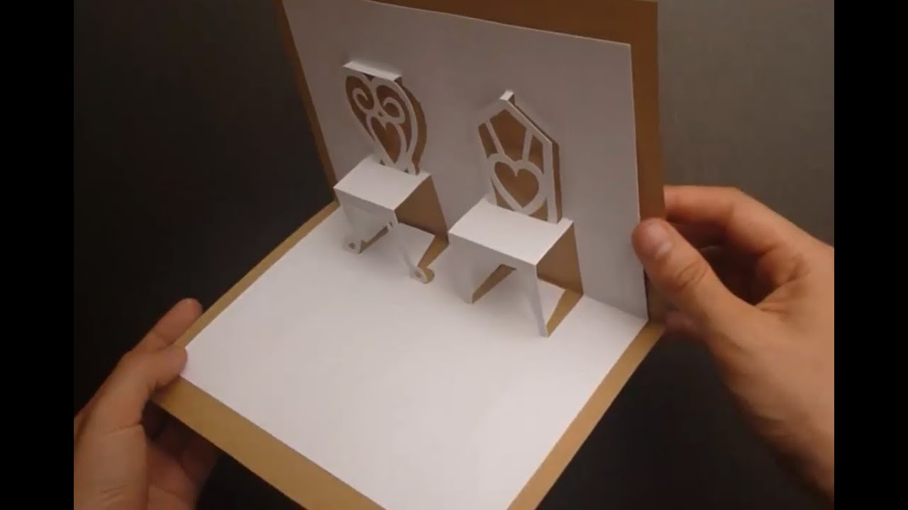 Chairs Pop Up Card Tutorial Origamic Architecture YouTube
