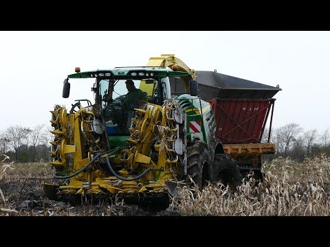 John Deere 8600i Working Hard in The Watered & Muddy Fields | Maize / Corn Chopping | Häckseln 2017