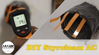 كيفية جعل المحمولة الستايروفوم مكيف الهواء || ديي المحمولة AC