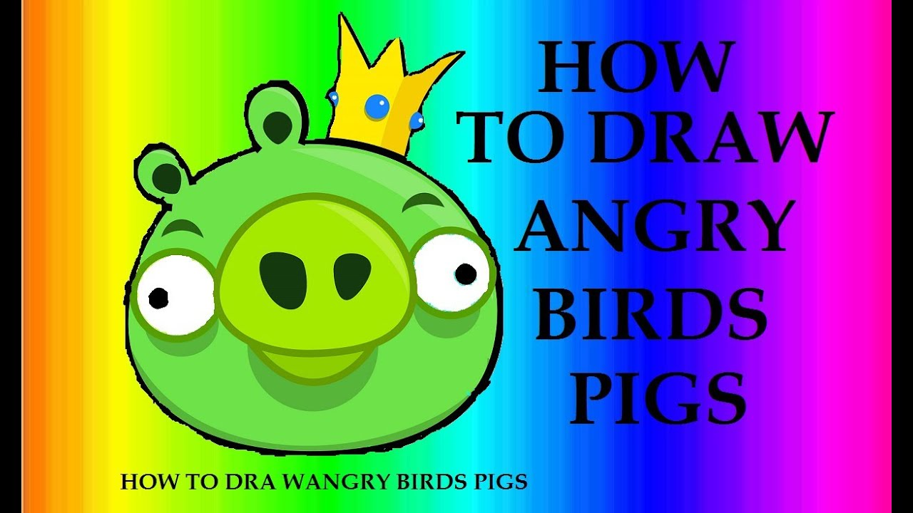 How To Draw The King Pigs