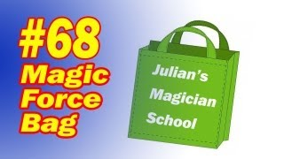 Magic Force Bag - How To Make Your Own Clear Forcing Bag - Simple Magic Trick