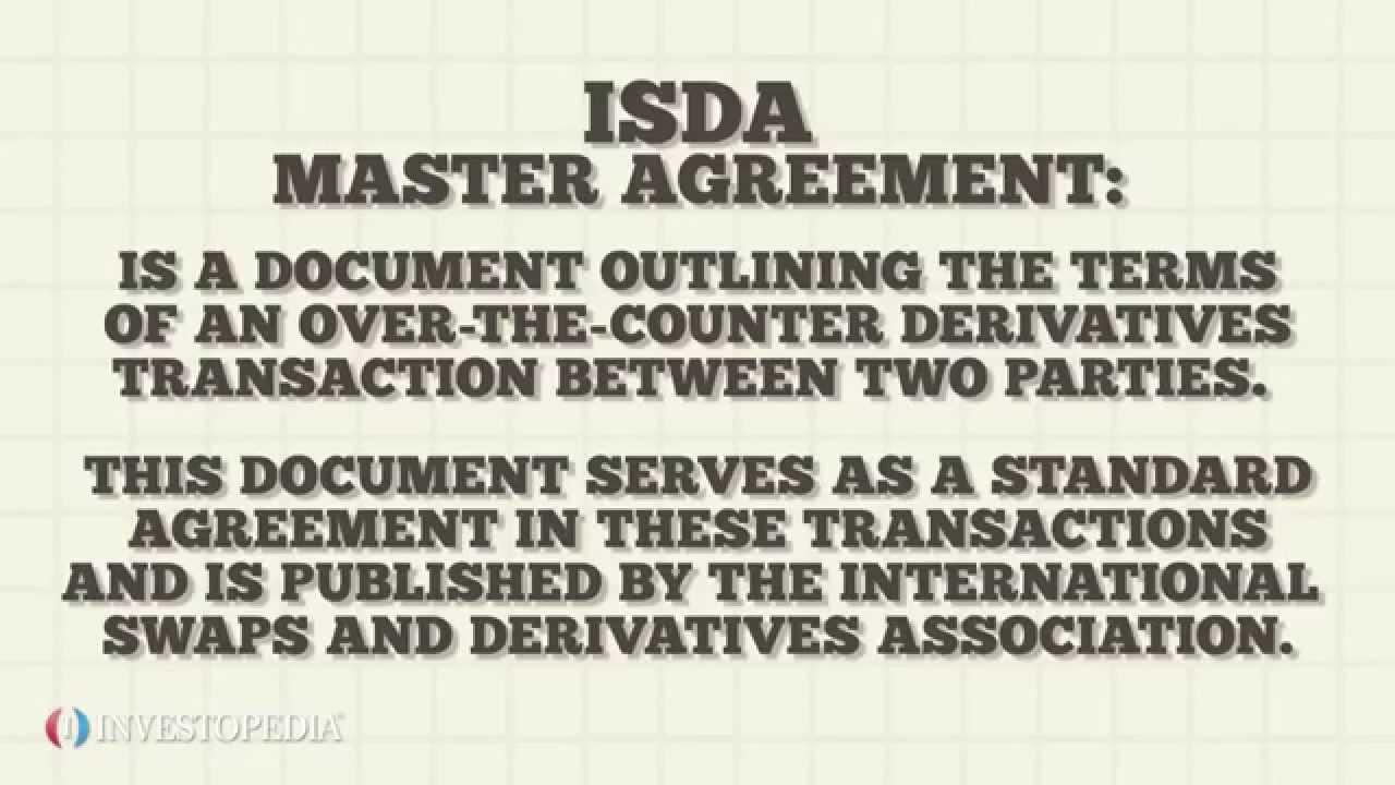 Investopedia Video Isda Master Agreement Youtube