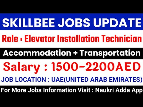 JOB IN UAE /Role:Elevator Installation Technician /Company: Easy Manpower Agency/Salary:AED1500-2200