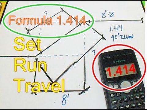 Piping Formula Secant 45 Degree 1 414 Set Run Travel Take
