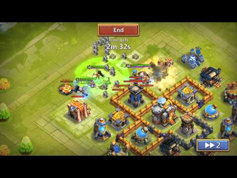 Castle Clash Let's Play Ep.29:Storage+Defense+Wall+Gold Mine Upgrades!