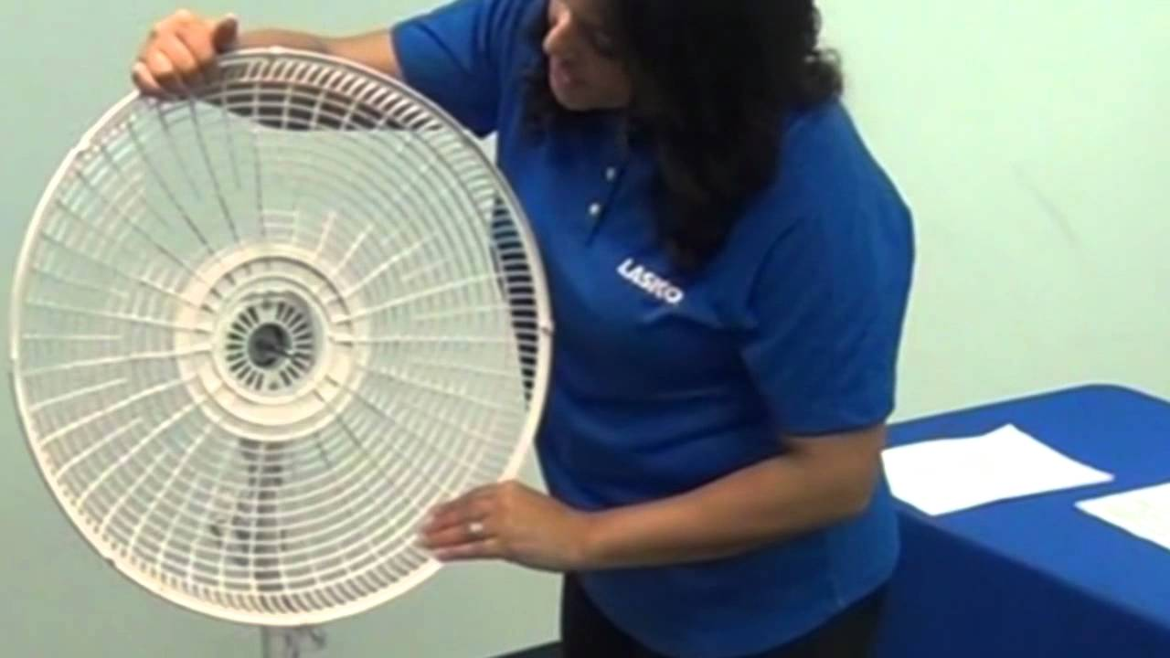 how to assemble a lasko pedestal stand fan in minutes with no tools youtube [ 1280 x 720 Pixel ]