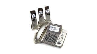 Panasonic DECT 6.0 3 Cordless and 1 Corded Phone Set