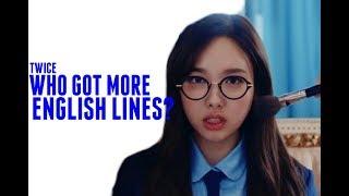 TWICE - Who Got More English Lines? (Line Distribution)