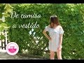 Ideas para reciclar camisas: vestido de verano