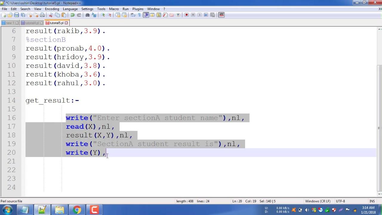AI prolog Programming Tutorial 5 | Complex read and write problem