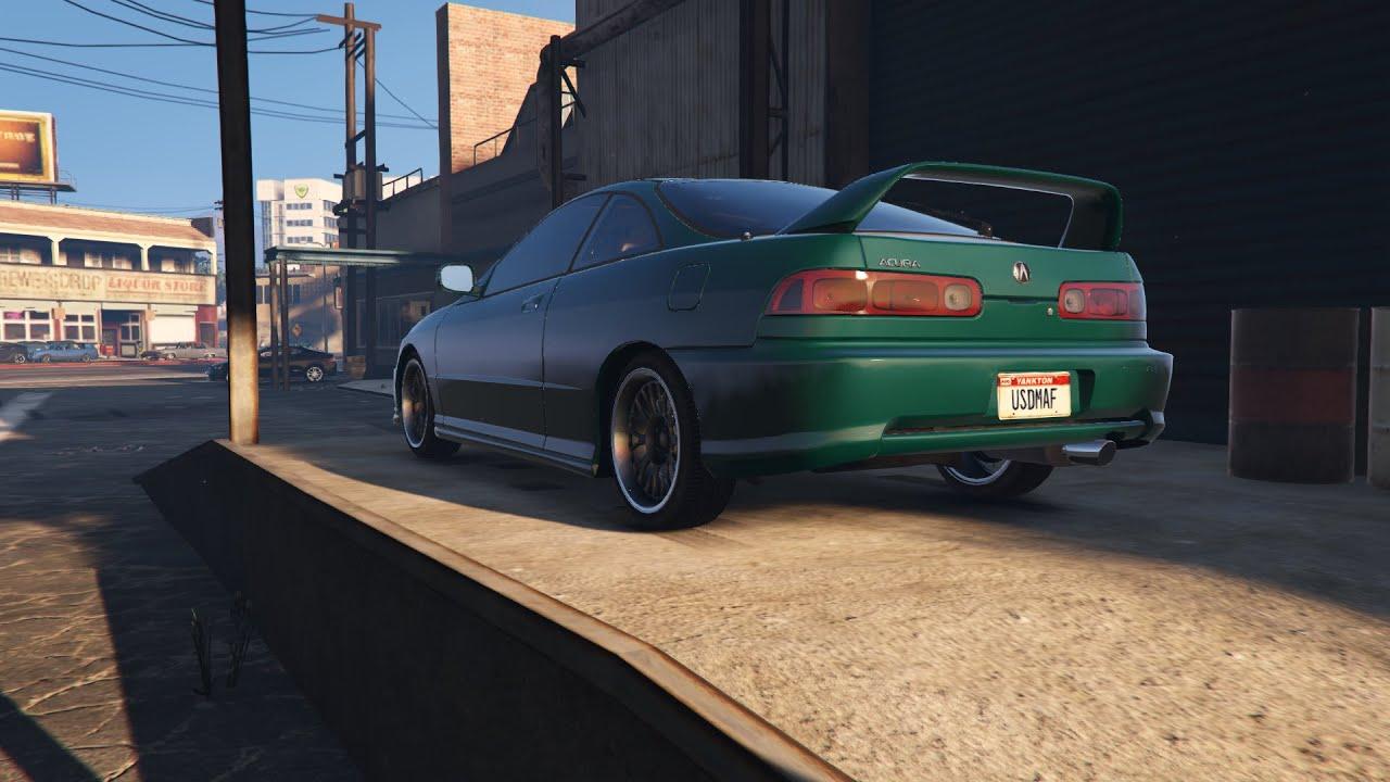 GTA PC Street Integra TypeR Car Mod Build Cruise Test - Acura integra mods