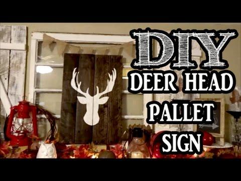 Deer Head Pallet Sign