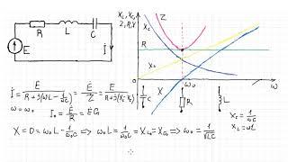 Теоретические основы электротехники 40. Резонанс в последовательной цепи (резонанс напряжений) ч1.