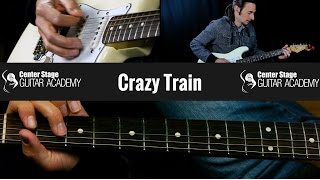 How To Play Crazy Train Guitar Lesson