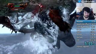 God Of War 3 - SpeedRun Very Hard Sem Upgrade