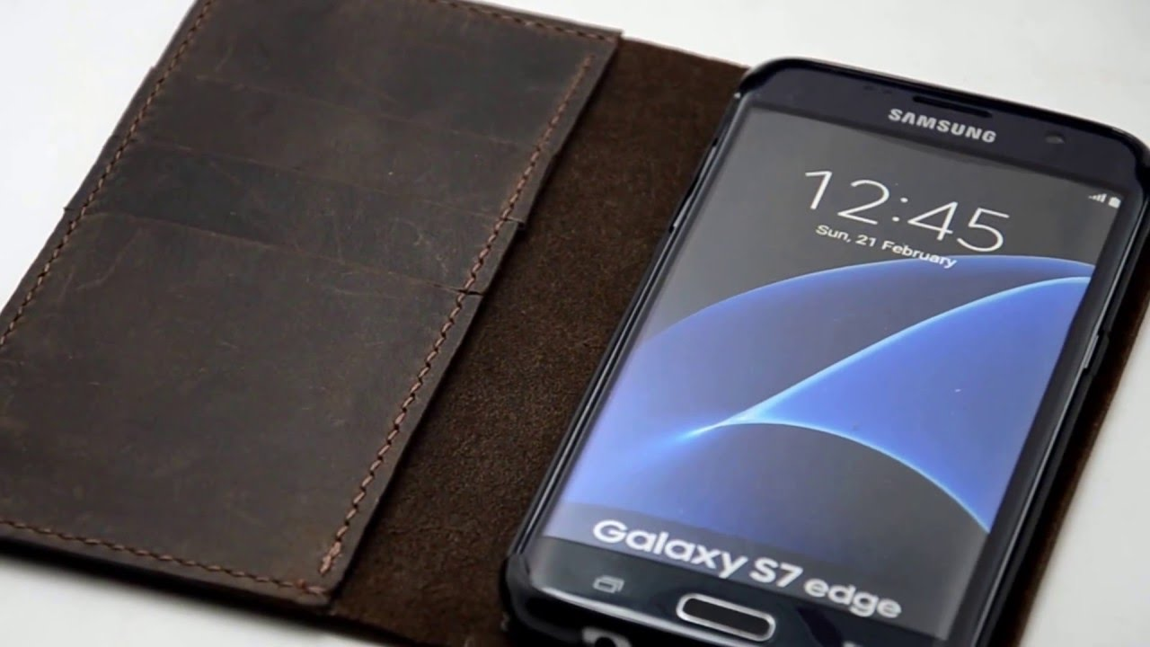 competitive price f8760 580c9 handmade Samsung Galaxy S7 edge case LEATHER WALLET s7 edge leather  case-www.jjnusa.com.mp4