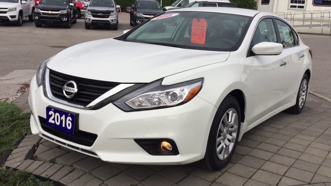 2016 Nissan Altima 2 5 S Glacier White Roy Nichols Motors Courtice On