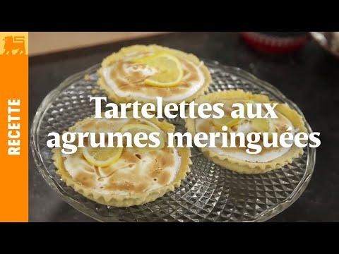 Tartelettes aux agrumes meringuées