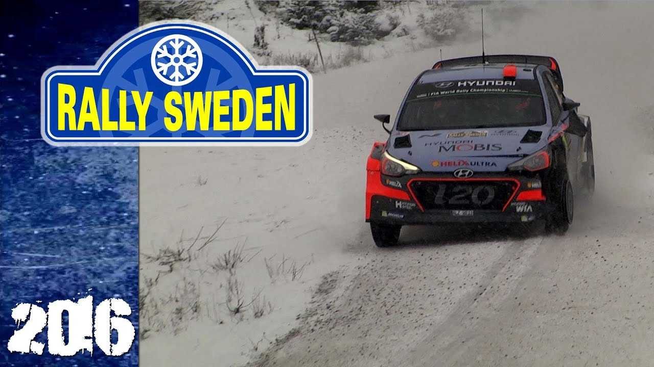 WRC Rally Sweden Neuville Lost Tire YouTube - Rally sweden map 2016