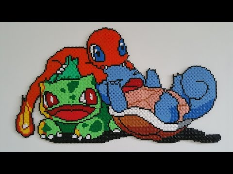 8,000+ Piece Starter Pokémon Perler Bead Art Time Lapse