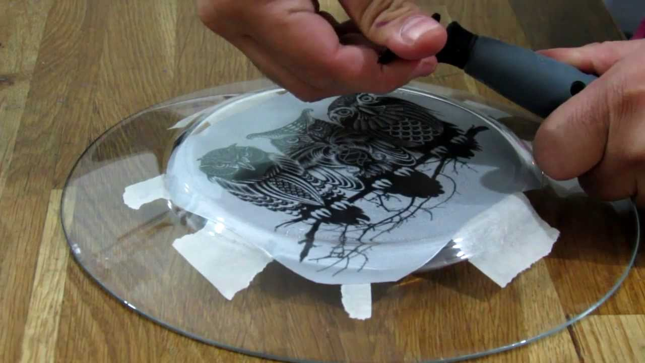 How To Etch Glass How To Engrave On Glass Using Dremel Diamond Bit Youtube