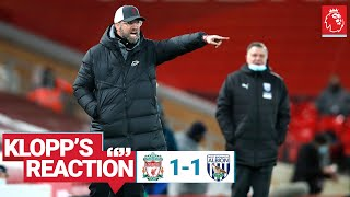 Klopp's Reaction: 'It's a game we should have won'   Liverpool vs West Brom