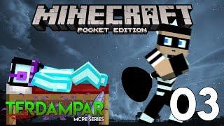 MALING?! ada orang lain..? MCPE | Terdampar #3 | Minecraft Pocket Edition Indonesia