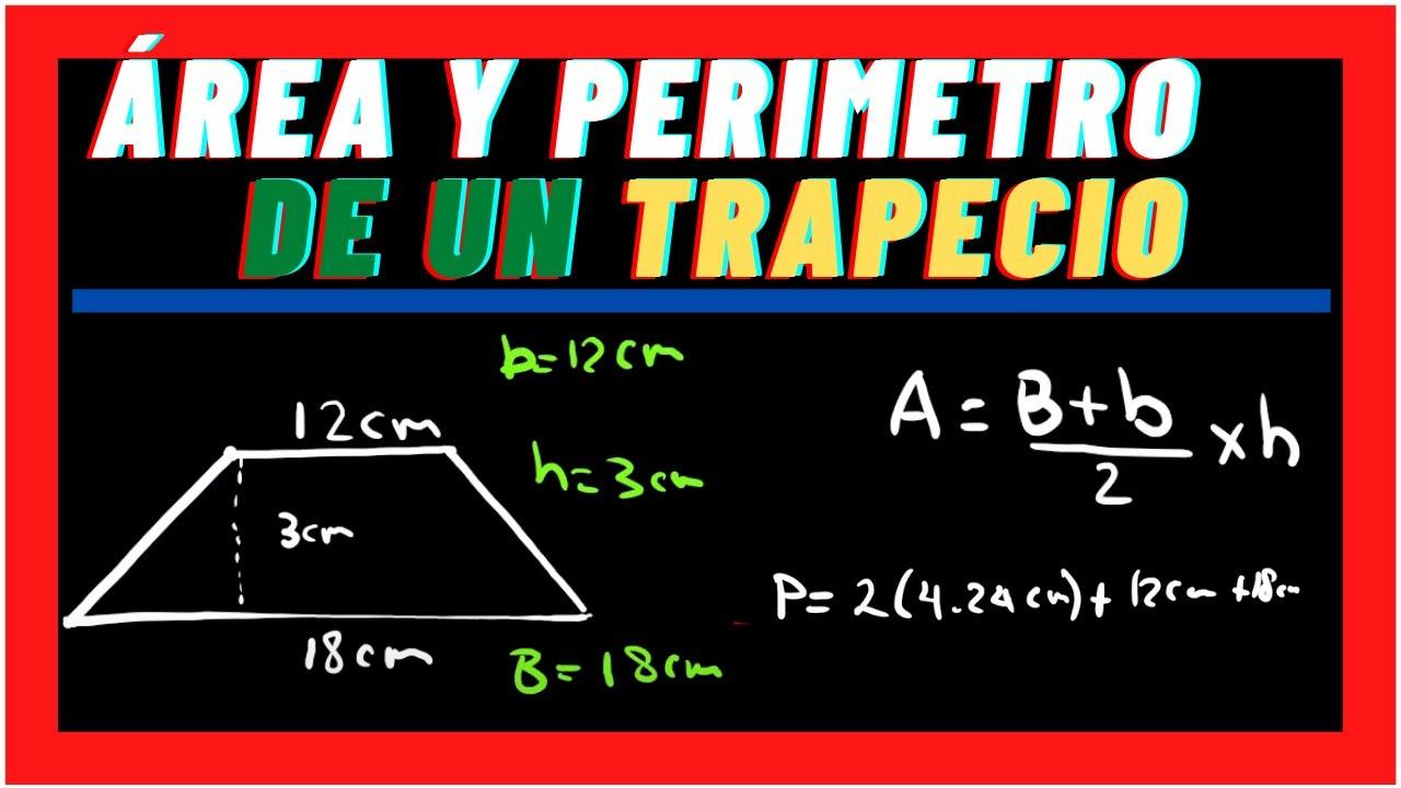 Como calcular el Área y perímetro de trapecio  💥 GEOMETRÍA  💥 