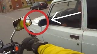 Angry Bikers vs Cars (Smashing Off Mirrors)