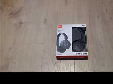 JBL bluetooth headphones T450BT, black-unboxing and review