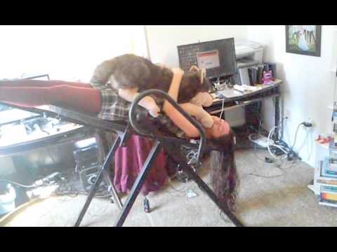 Inversion Table Free Falling Check Out My New Bat Mobile