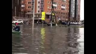 """Астану затопило 20 августа 2018 года / Надувные лодки, вставшие автобусы / Астана снова """"поплыла"""""""