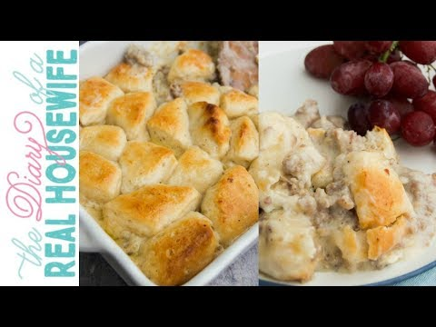 Biscuits And Gravy Casserole | The Diary Of A Real Housewife