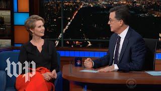 Cynthia Nixon slams Cuomo during Colbert interview thumbnail