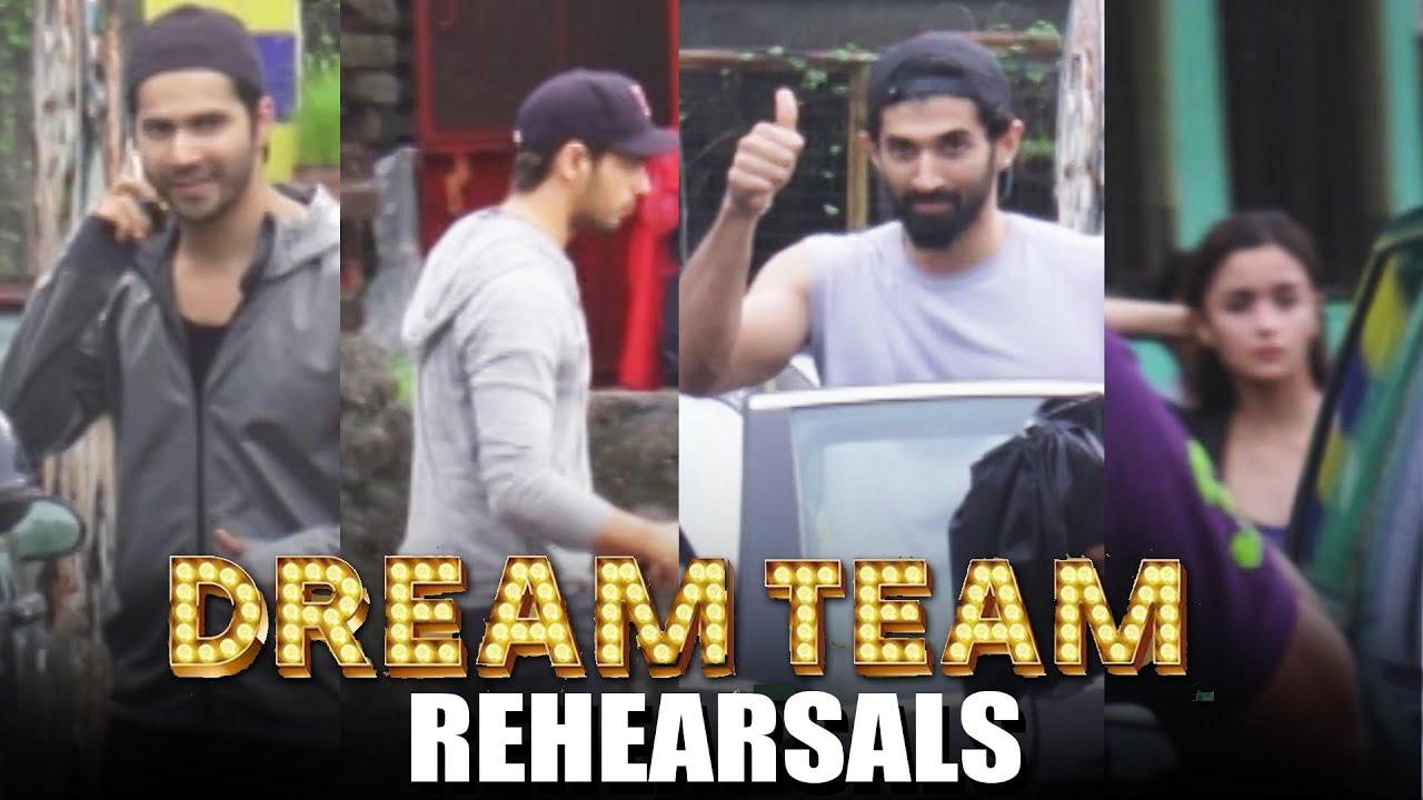 Dream Team Dance Rehearsals Varun Dhawan Alia Bhatt Sidharth