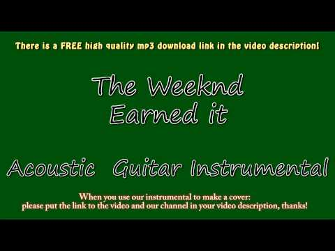 The Weeknd Earned It Acoustic Guitar Instrumental Fifty Shades