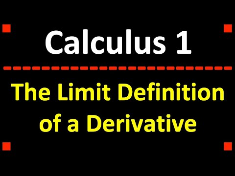 Calculus: The Limit Definition of a Derivative