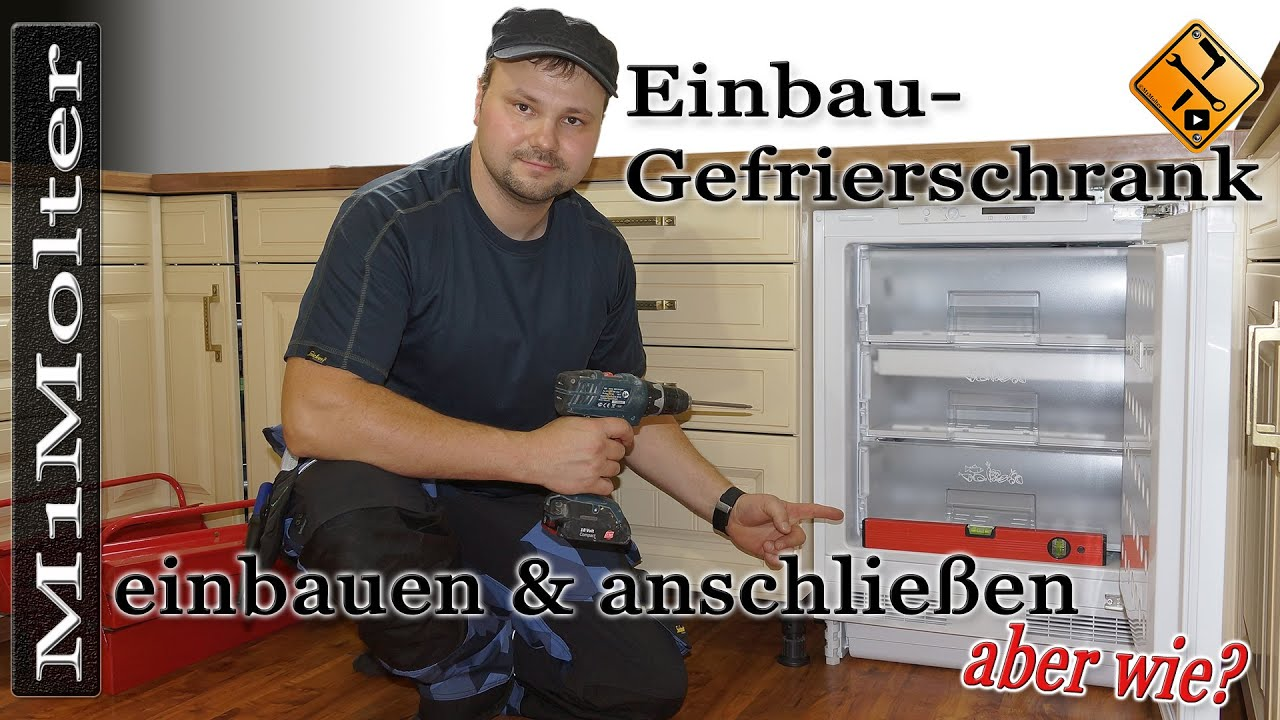 einbau gefrierschrank einbauen von m1molter youtube. Black Bedroom Furniture Sets. Home Design Ideas