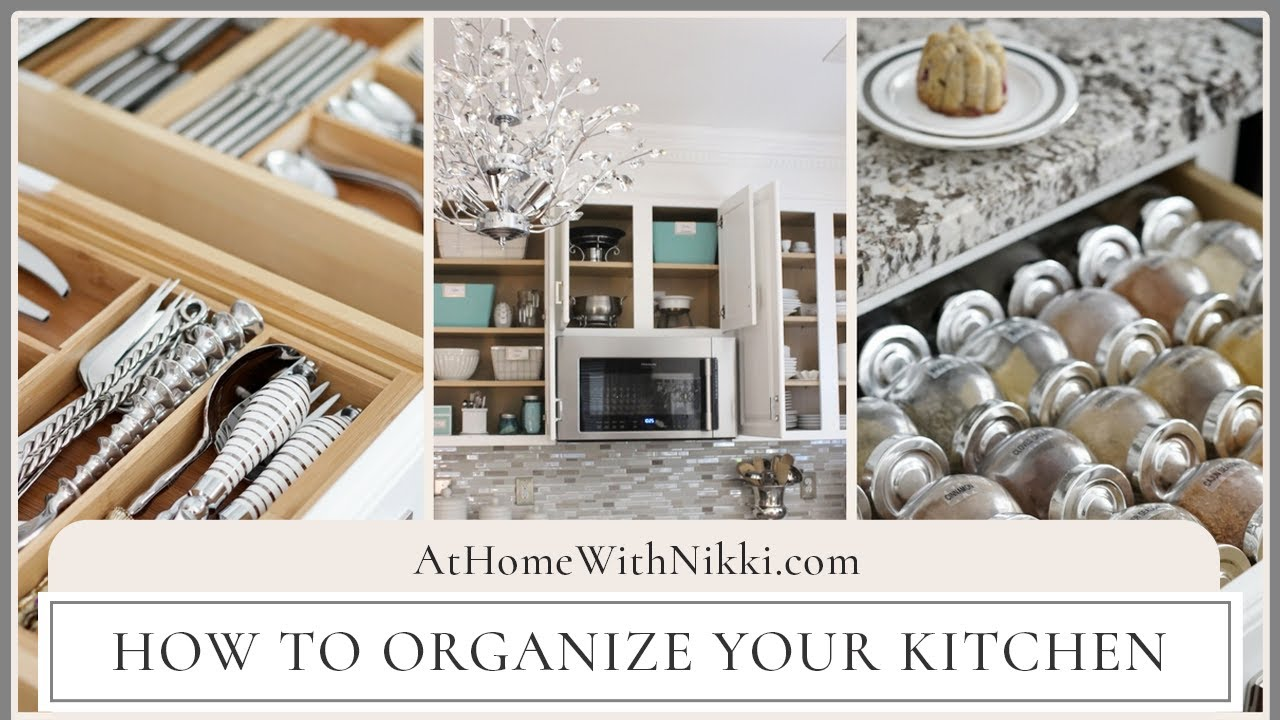 ORGANIZED KITCHEN TOUR How To Organize Your Kitchen YouTube - How to organize your kitchen cabinets